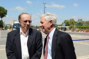 Elie Hirschfeld and Robert Sugarman, former Chairman, Conference of Presidents of Major American Jewish Organizations